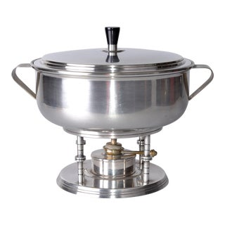 Tommi Parzinger Silver Serving Bowl For Sale