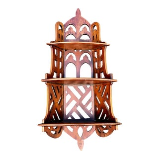 Chippendale Style Mahogany Three Tier Shelves