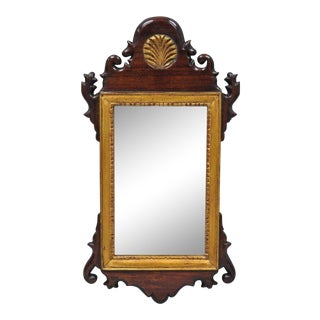 Vintage Federal Style Mahogany Wood Frame Wall Mirror For Sale