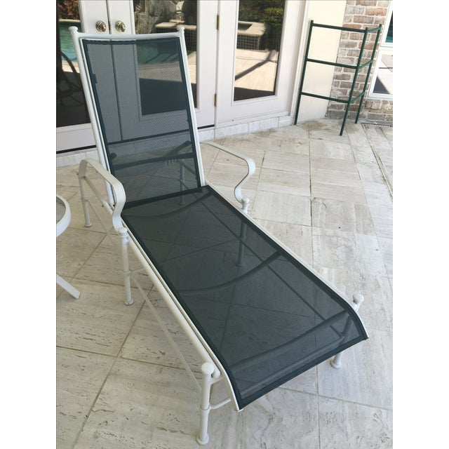 """Set of four Woodard Nantucket sling outdoor chaise lounges. Excellent condition. """"Casual Aluminum by Woodard"""". Extremely..."""