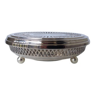 Silver Plate Celtic Platform Server Hot Plate Holder For Sale