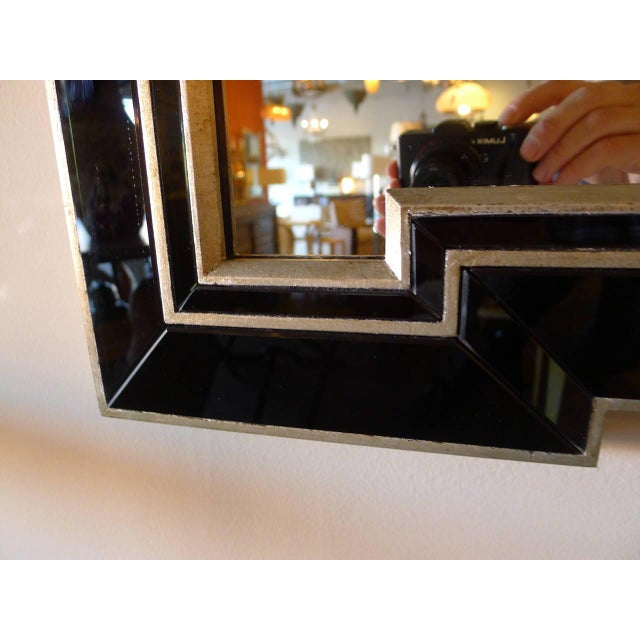 Paul Marra Design Greek Key Mirror with Black Mirror Border - Image 5 of 5