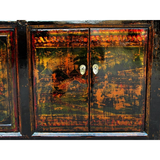 1910s Asian Antique Green Qinghai Sideboard For Sale - Image 11 of 13