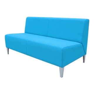21st Century Coalesse and Steelcase Alison Spear Usa Modern Blue Circa Loveseat For Sale