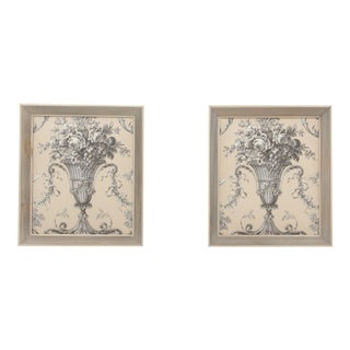 French Taste Fabric Panels - A Pair For Sale