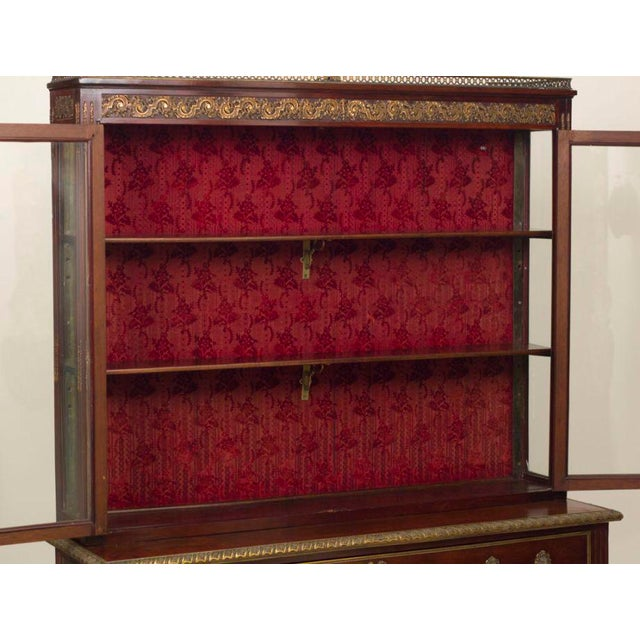 A very nice 19th century Louis XVI style gilt bronze mounted commode/bookcase. The mounts are original and superb. This...