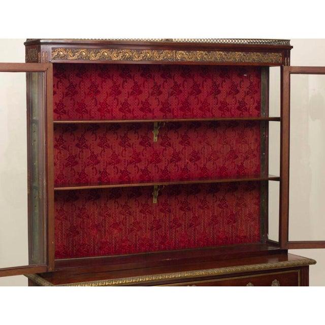 Louis XVI Style Walnut Bookcase Commode - Image 2 of 8