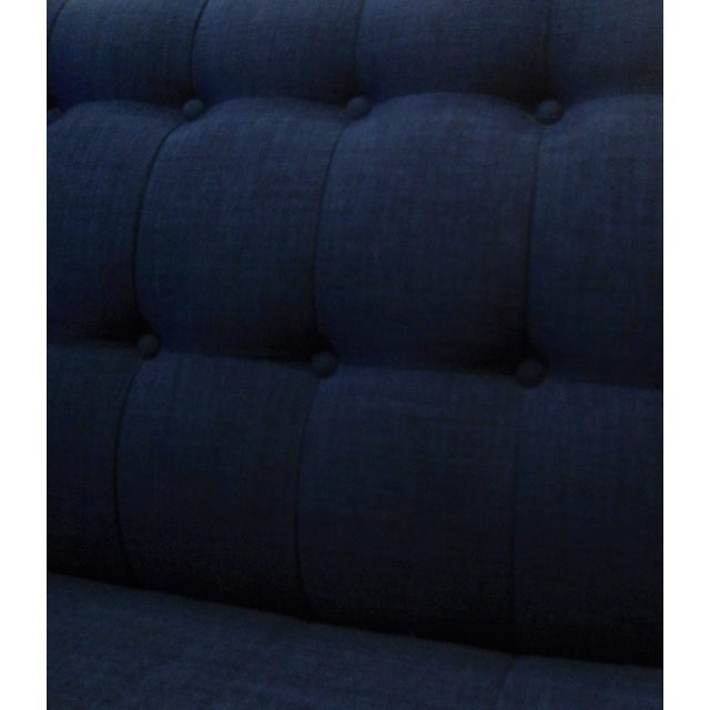 Dark Blue Tufted Cleveland Sofa by Thrive Furnitures For Sale In Los Angeles - Image 6 of 6