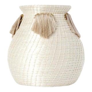 Mini Fanned Out Vase Bulbous Cream For Sale