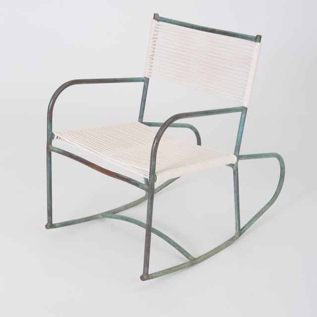 Early Model Walter Lamb Patio Rocking Chair For Sale - Image 11 of 11