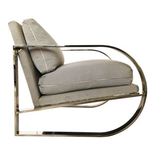 Geometric Form Lounge Chair by John Mascheroni for Swaim Originals For Sale