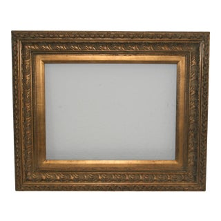 Vintage French Provincial Gold Tone Wood Museum Quality Picture Frame For Sale
