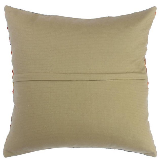 "2010s Cherise Rust/Gold Hand-Woven Kilim Throw Pillow(18""x18"") For Sale - Image 5 of 6"