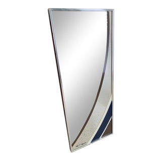 1970s Greg Copeland Geometric Graphic Art Op Mirror For Sale