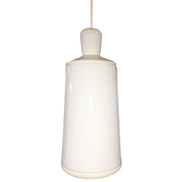Small White Ceramic Ciocco Pendant Lamp For Sale