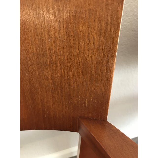 Cherry Wood Knoll Crinion Cherrywood Ribbon-Band Arm Side Chairs - Set of 4 For Sale - Image 7 of 11