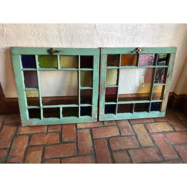 Stained Glass Windows - a Pair For Sale - Image 12 of 13