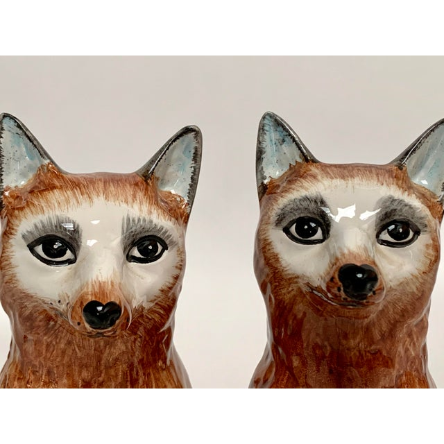 Italian Ceramic Fox Bookends – a Pair For Sale - Image 10 of 12