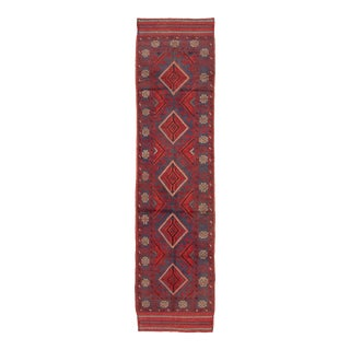 "Afghan Tribal Wool Runner Rug-2'0"" X 8'4"" For Sale"