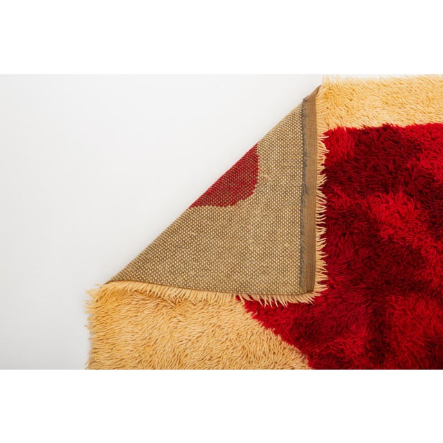 Textile 1960s Scandinavian Modern Op Art Shag Area Rug - 8′1″ × 11′5″ For Sale - Image 7 of 8
