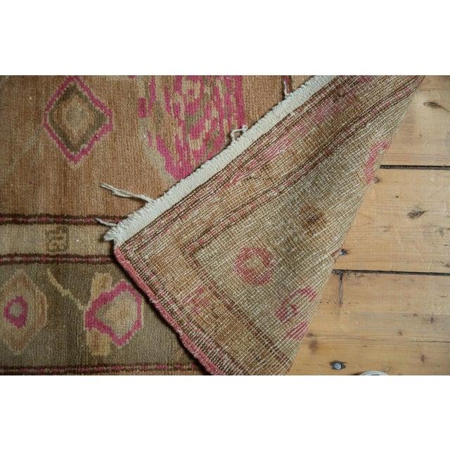 "Textile Vintage Oushak Rug - 4' x 7'6"" For Sale - Image 7 of 10"