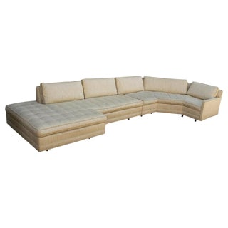 Two-Piece Sectional Sofa Designed by Harvey Probber For Sale