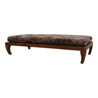 Teak Moroccan Boho Style Meditation Table Bench Daybed For Sale