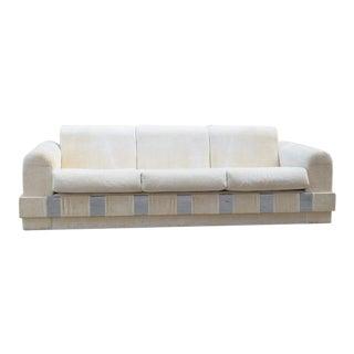 Adrian Pearsall White & Chrome Hollywood Sofa