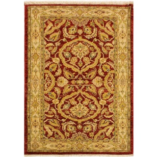 Kafkaz Peshawar Gertie Red & Gold Wool Area Rug - 3'0 X 4'11 For Sale