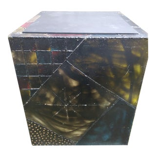 Paul Evans Patchwork and Slate Side Table Uncommon Dimensions For Sale