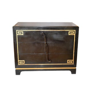 Art Deco Grosfeld House Attributed Greek Key Dressers, Pair For Sale