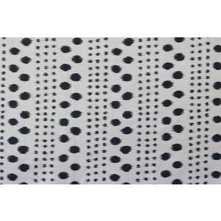 Virginia Kraft Polkat Fabric, 3 Yards in Charcoal For Sale