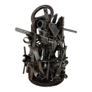 Modern Complex Tools Group Sculpture Welded Tools For Sale