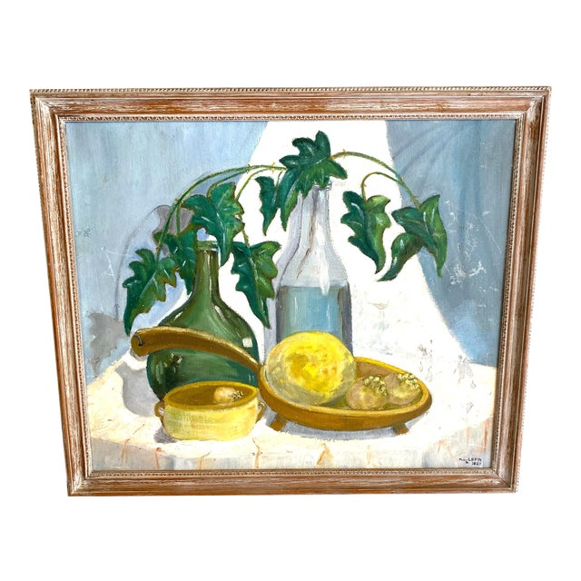 1960's Still Life Painting Oil on Canvas Framed and Signed For Sale