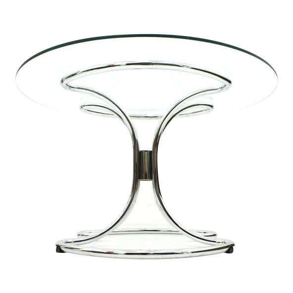 Glass and Steel Tube Dining Table by Giotto Stoppino, Italy 1960`s For Sale