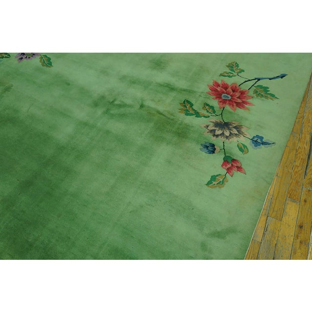 Chinese Art Deco Rug-8′8″ × 11′4″ For Sale - Image 4 of 7
