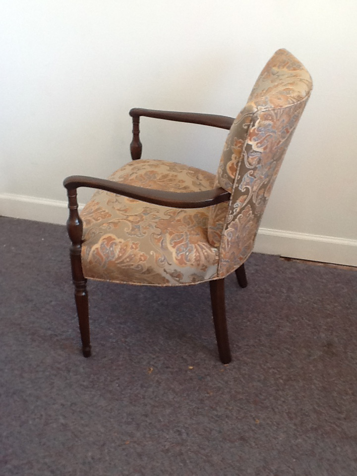 Paisley Print Wooden Corner Chair   Image 4 Of 5