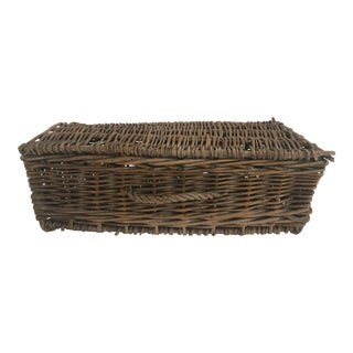 French Wicker Basket For Sale