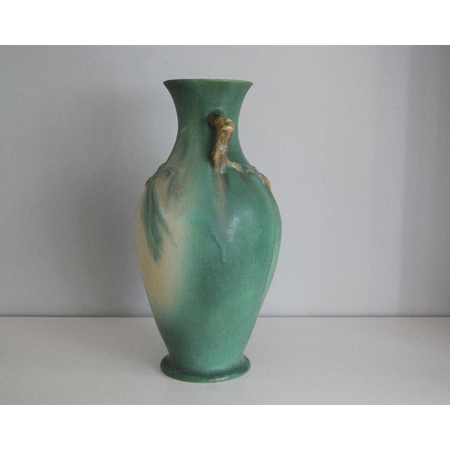 1930s 1930s Arts and Crafts Roseville Pottery Green Pinecone Floor Vase For Sale - Image 5 of 10