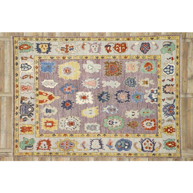 Contemporary Contemporary Oushak Style Rug - 8′10″ × 12′2″ For Sale - Image 3 of 8