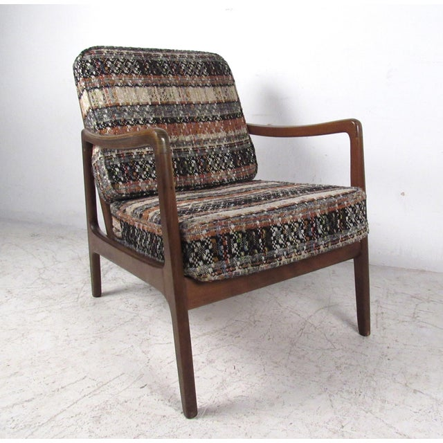 Mid-Century Modern Vintage Modern Ole Wanscher Lounge Chair With Ottoman by John Stuart For Sale - Image 3 of 13