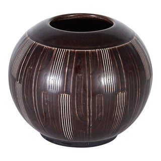 Nils Thorsson Earthenware Vase for Aluminia, Denmark, 1940s For Sale