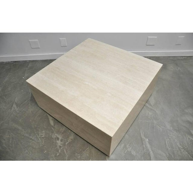 Travertine Coffee Table For Sale - Image 4 of 7