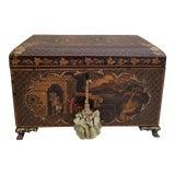 Image of Antique Chinoiserie Tea Caddy Box For Sale