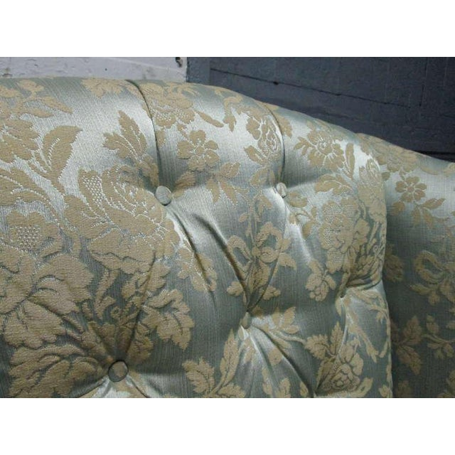 Early 20th Century Pair of Chippendale Style Tufted Wingback Chairs For Sale - Image 5 of 8