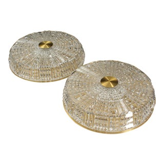 1960s Cut Glass Ceiling Lamps by Carl Fagerlund for Orrefors For Sale