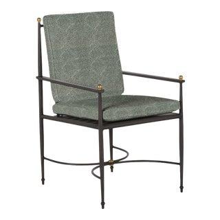 Summer Classics Roma Arm Chair in Shibori Mallard For Sale