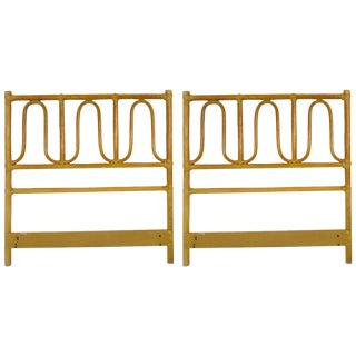 McGuire Twin Headboards Pair For Sale