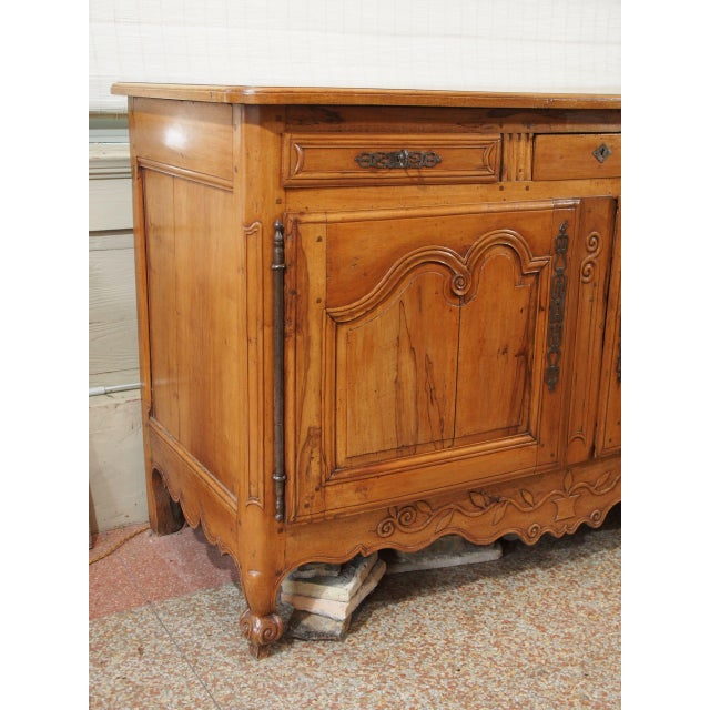 Late 18th Century 18th Century French Cherry Wood Buffet For Sale - Image 5 of 11