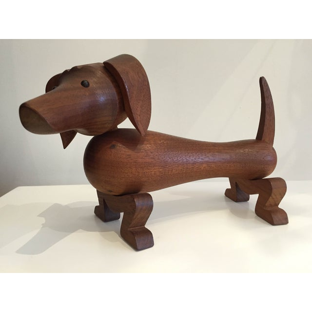 Vintage Danish Teak Dachshund by Kay Bojesen. Kay Bojesen (15 August 1886 – 28 August 1958) was a Danish silversmith and...